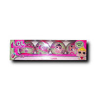 Набор шаров Лол 4 в 1. Кукла LOL мини / сестрички Лол, набор из 4х шаров