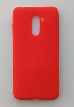 Силиконовый чехол Xiaomi Pocophone F1 красный матовый