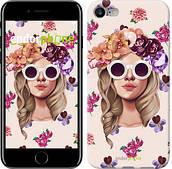 """Чехол на iPhone 8 Девушка с цветами v2 """"3569c-1031-2911"""""""