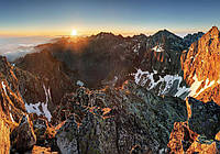 Фотообои готовые 368x254 см Вершина в Татрах (10509CN), фото 1