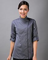 Китель поварской женский серый Atteks - 00925