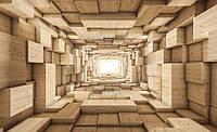Фотообои готовые 368x254 см Деревянный туннель (3247.20171), фото 1