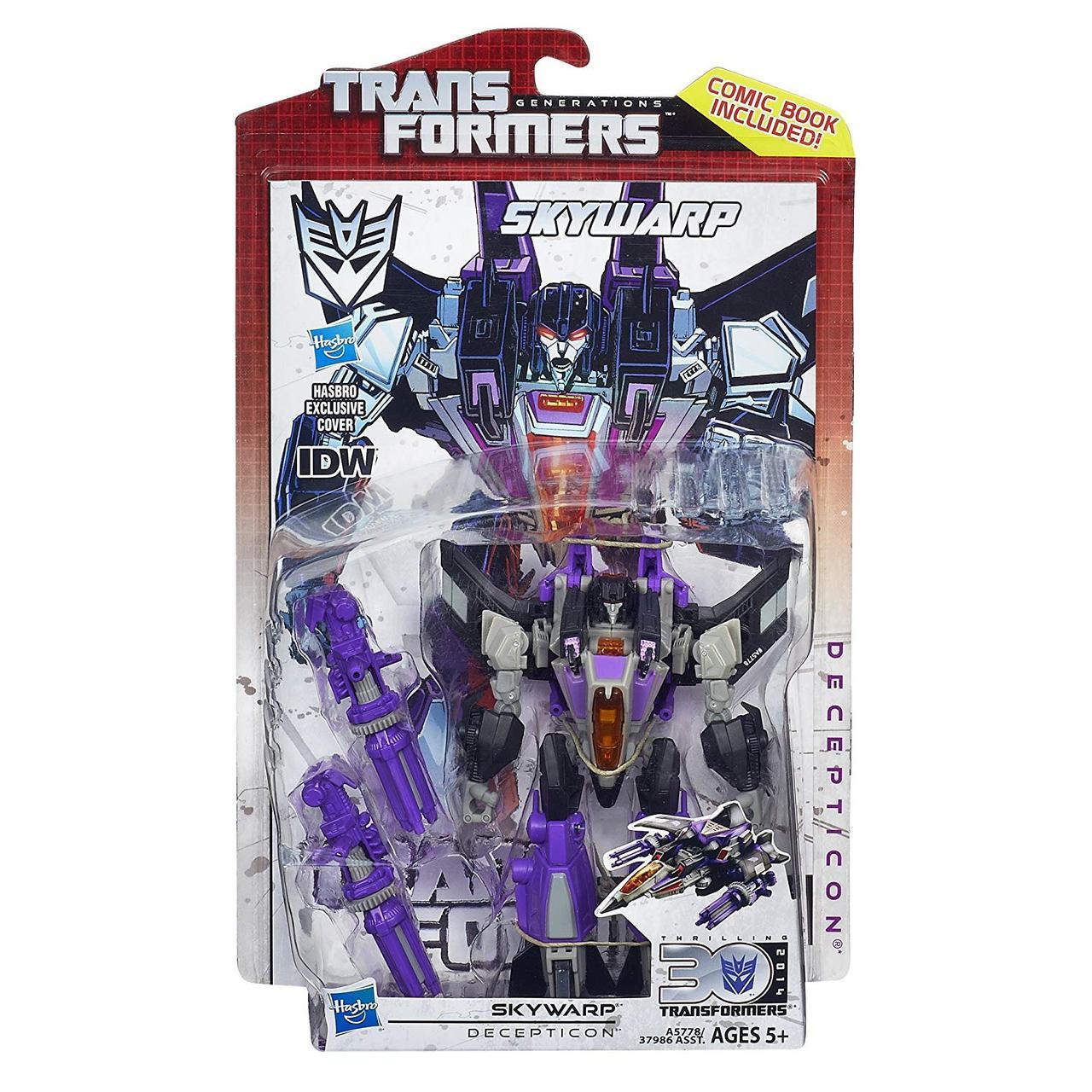 Трансформер-десептикон Скайварп - Skywarp, Deluxe Class, 30th Transformers, Generations, Hasbro