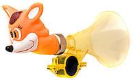 Гудок TW CS-1036 Лисица, пластмассовый с резиновой головой лисы, рыжий