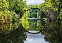 Фотообои готовые 368x254 см Зеркальный мост (11747CN), фото 1