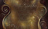 Фотообои готовые 368x254 см Кожа и золото (2830CN), фото 1