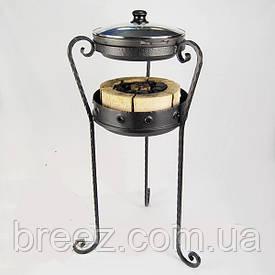 Кованый комплект для приготовления на углях  Жаровой  жаровня чугун