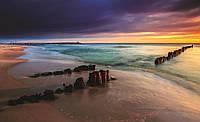 Фотообои готовые 368x254 см Сваи в море (1027.20769), фото 1