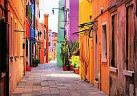 Фотообои готовые 368x254 см Узкая цветная улочка (10745CN), фото 1