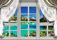 Фотообои бумажные на стену 368х254 см : Мальдивы за окнами (10630CN), фото 1