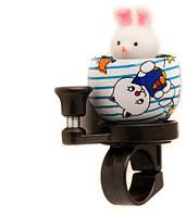 Звонок TW JH-303 Кролик, сигнал с ударным рычагом под большой палец