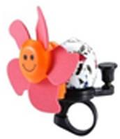 Звонок TW JH-401+1R (цветок),сигнал с ударным рычагом под большой палец, с пропеллером,розовый