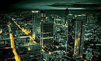 Фотообои готовые 368x254 см Ночной город в золоте (328CN), фото 1