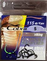 Крючки рыболовные Кобра viking №5, 10шт