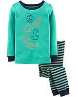 Пижама с длинным рукавом для мальчика, хлопок 86см