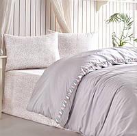 Постільна білизна 200х220 Cotton Box ранфорс Candy Rita Gri