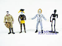 NECA Beetlejuice, Smoking Guy, Shrunkenhead Guy and the Headhunter, набор Битлджус, фото 1