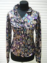 Блуза стрейч атлас, блуза не дорого молодіжна