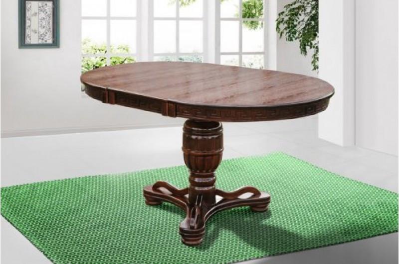 Обеденный круглый (раздвижной) стол -Версаль2, из массива дерева (цвет - орех)