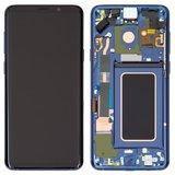Дисплей Samsung G965F Galaxy S9 Plus модуль в сборе с тачскрином, синий, с рамкой, Original