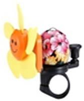 Звонок TW JH-401+1Y (цветок)сигнал с ударным рычагом под большой палец, с пропеллером,желтый
