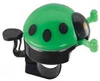 Звонок TW JH-505G Божья коровка, пластик с раскр. Крыльями, с ударным рычагом под большой палец, зелен.
