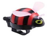 Звонок TW JH-506R Пчела,пластик, с ударным рычагом под большой палец, красная