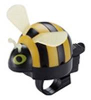 Звонок TW JH-506Y Пчела, пластик, с ударным рычагом под большой палец, желтая