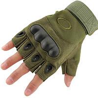 Тактические перчатки OAKLEY беспалые олива, фото 1