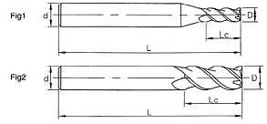 Ø3,5*9*4*50-3FB Фреза твердосплавная концевая для обработки алюминия (45HRC), фото 2