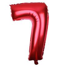 Шар из фольги красная цифра 7 (70см) - без гелия