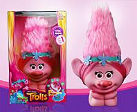 Тролли игрушка-светильник Розочка с подсветкой Ночник