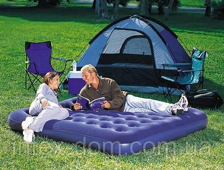 """Кровать надувная флок """"Bestway"""" 67004(203х185х22)"""