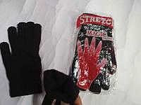 Детские Подростковые перчатки вязанные черные