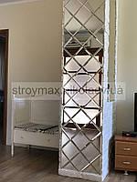 Зеркальное панно 480х2400 мм серебро фацет 10 мм (плитка 170  мм), фото 1