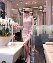 Платье в рубчик с двойным горлом, фото 4