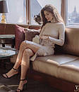 Платье в рубчик с двойным горлом, фото 5