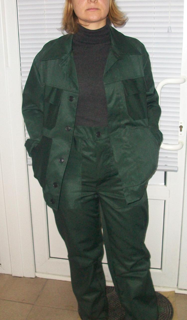 5b1943ccf9b6e9 ... Костюм робочий стандарт, куртка коротка і штани, тк. грета, т-зелений