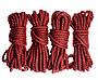 Набор веревок для шибари 4х8м. 6мм, джут. бардовая, фото 5
