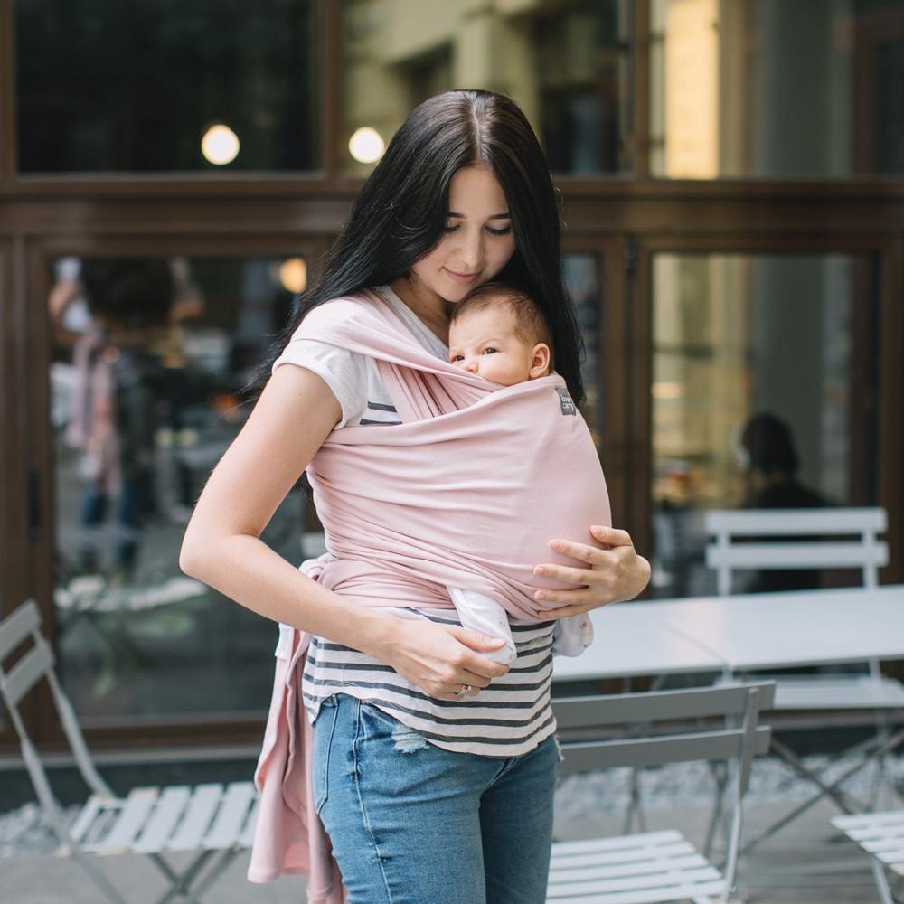 """Слинг-шарф трикотажный """"Орхидея"""" для новорожденных Love & Carry Переноски для детей слінг не Кенгуру, фото 1"""