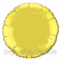 """Фольгированный шар круг золото 18"""" 401500G Flexmetal"""