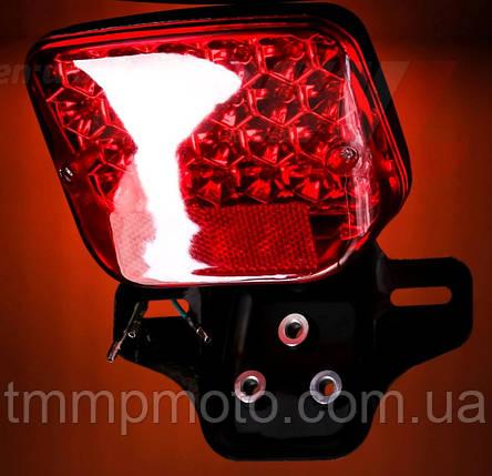 Фонарь стопа для мототехники LED ( светодиодный ) всеостанавливающий стоп, фото 2