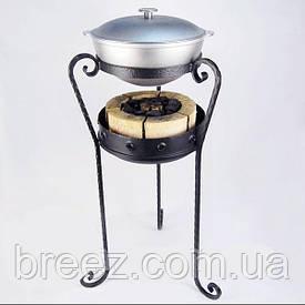 Кованый комплект для приготовления на углях Жаровой казан 6 л алюминий