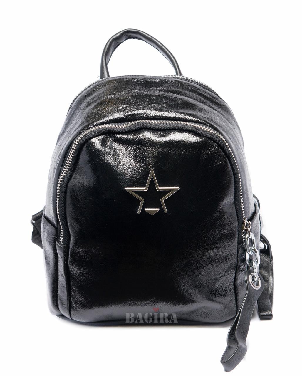 ec235301a9e7 Маленький женский рюкзак из кожзаменителя в комбинации с плащевкой -  Интернет-магазин
