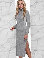 Женское ангоровое платье-миди по фигуре (Аниэллаjd)