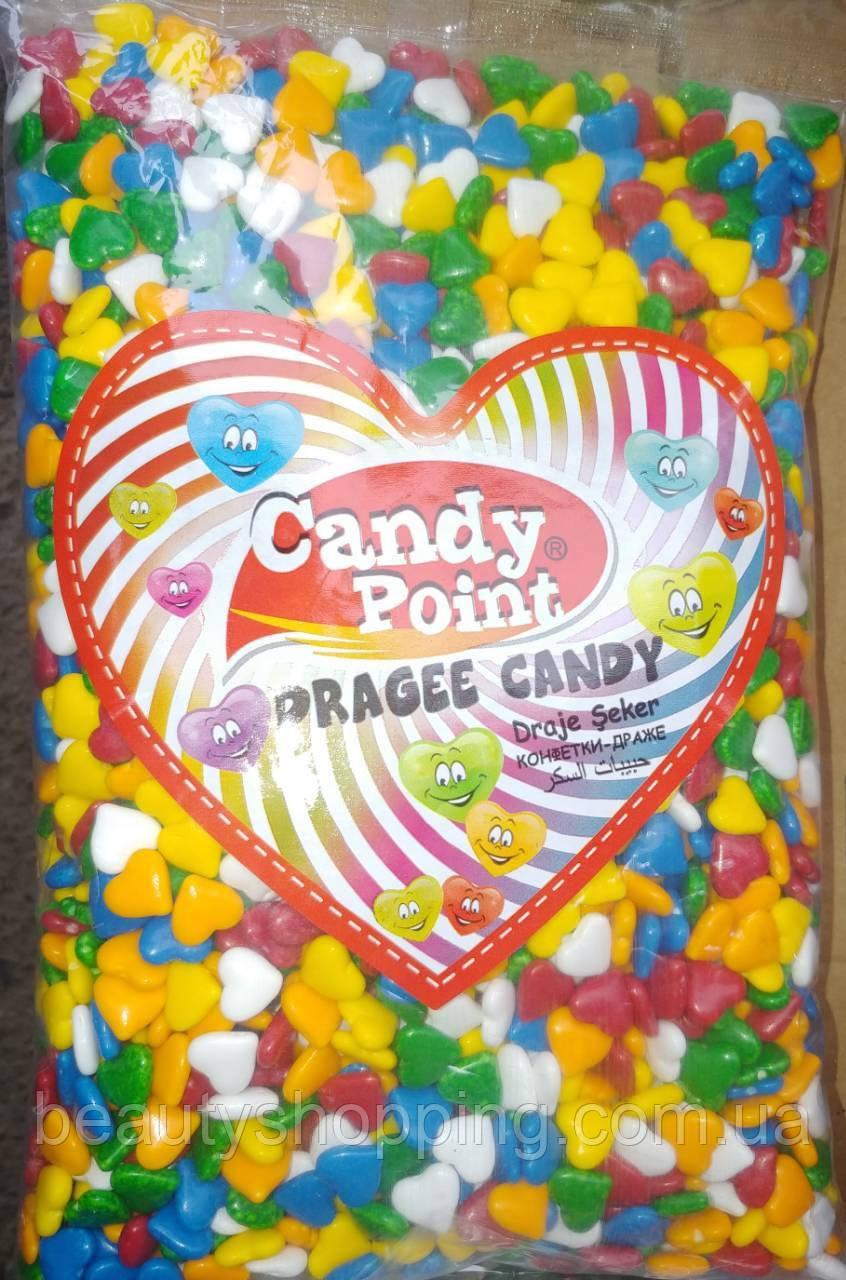 Дражже в глазури сердечка Dragee Candy Point 1 кг Турция