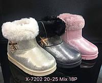 Детские зимние ботинки для девочек Размеры 20-25