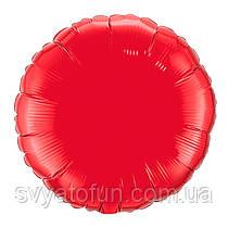 """Фольгированный шар круг красный 18"""" 401500R Flexmetal"""