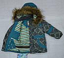 Куртка зимняя для девочки серо-зеленая (QuadriFoglio, Польша), фото 5