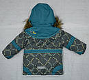 Куртка зимняя для девочки серо-зеленая (QuadriFoglio, Польша), фото 8